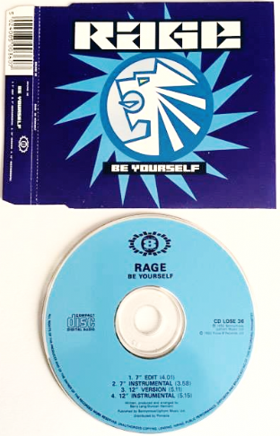 Rage ‎- Be Yourself (CD Single) (EX-/EX)